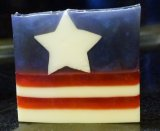 4th of July Soap with Bitter Orange Orchid fragrance.