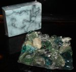 Signature Soap Dish, River Pebbles and Sea Glass Mix