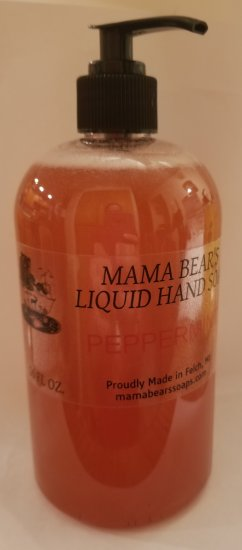 Peppermint Liquid Hand Soap 16oz - Click Image to Close