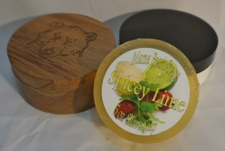 Spicey Lime Glycerin Shave Soap - Click Image to Close