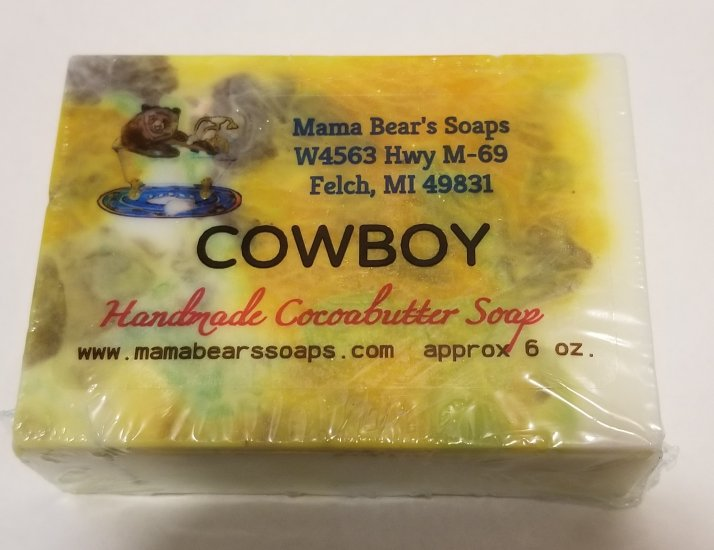 Cowboy Cocoa Butter Soap - Click Image to Close
