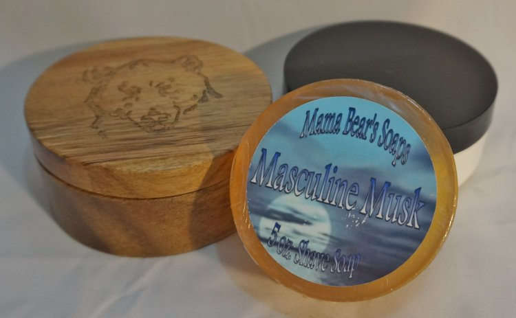 Masculine Musk Glycerin Shave Soap - Click Image to Close
