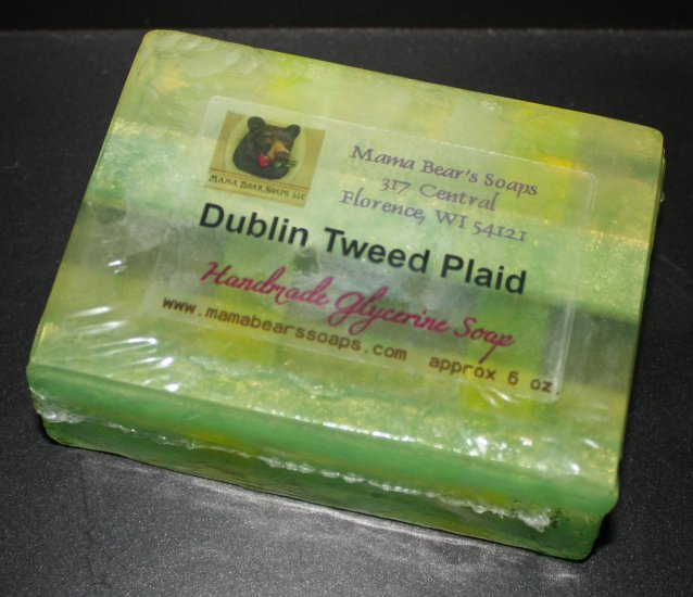 Dublin Tweed Plaid Glycerin Soap - Click Image to Close