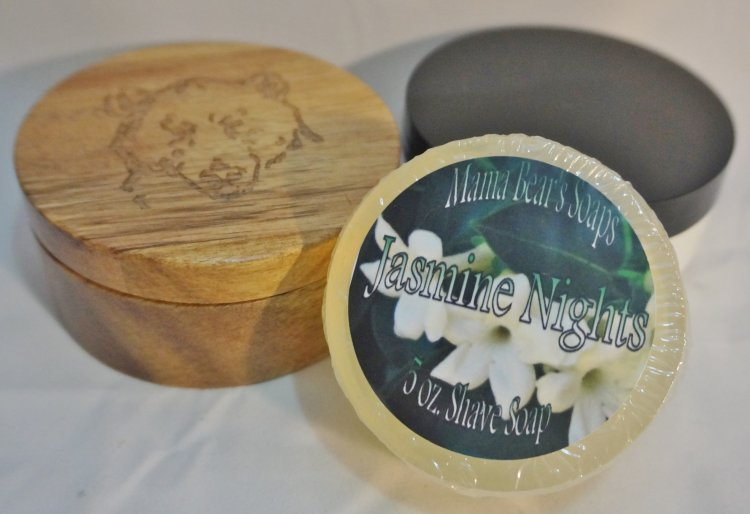 Jasmine Nights Glycerin Shave Soap - Click Image to Close