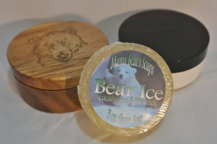 Bear Ice, Eucalyptus and Menthol Shaving Soap - Click Image to Close