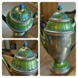 Green and Gold Tea Pot