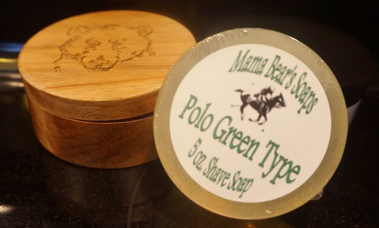 Polo Green Type 5 oz Shaving Soap - Click Image to Close