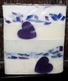 Lilac & Lavender Purple Hearts and Confetti Glycerin Soap