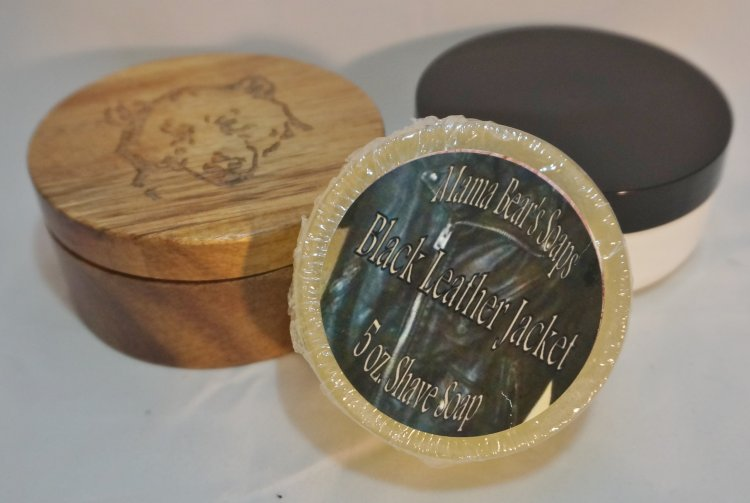 Black Leather Jacket Shaving Soap - Click Image to Close