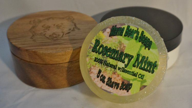 Rosemary Mint Glycerin Shave Soap - Click Image to Close
