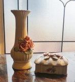 Rose Vase with Matching Trinket Box