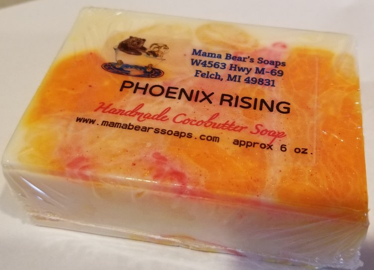 Phoenix Rising Cocoabutter Bath Soap - Click Image to Close