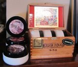 3 Scented Shaving Soaps in a Cigar Box