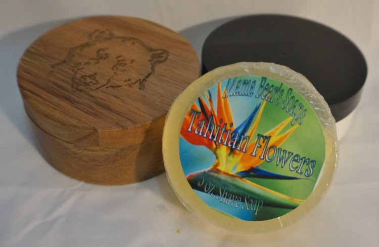 Tahitian Flowers Glycerin Shave Soap - Click Image to Close