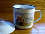 Cannabis Scented 12 oz. Soy Wood Wick Enamelware Candle