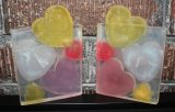 Pastel Hearts, Large clear glycerin bath soap
