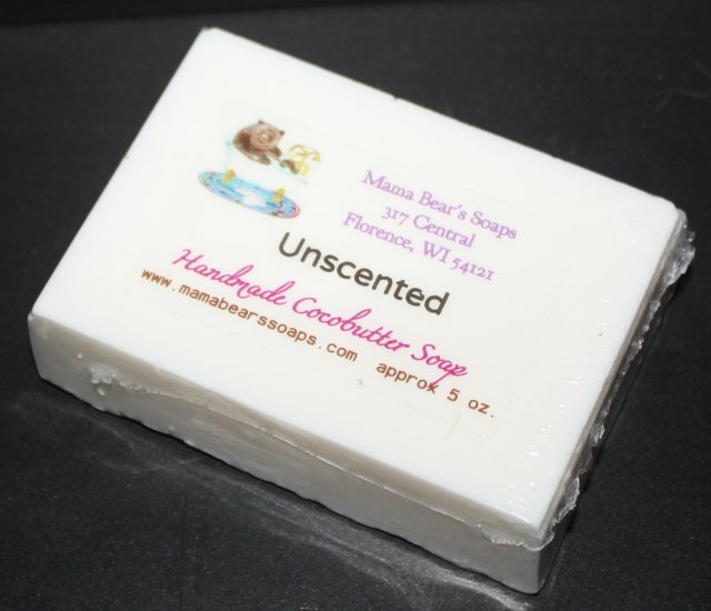 Unscented.. no fragrance... Cocoabutter Bath and Facial Soap - Click Image to Close