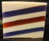 Ye Olde Barbershoppe striped geometric glycerin bath soap