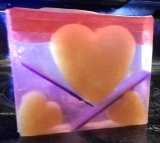 Rustic, 3 Gold Hearts with Lilac Fragrance
