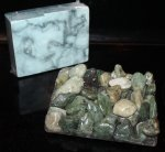 Signature Soap Dish, Green River Pebbles