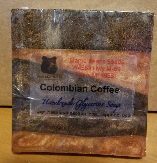 Colombian Coffee Glycerin Soap - Click Image to Close