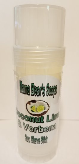 Coconut Lime Verbena Shave Stick - Click Image to Close