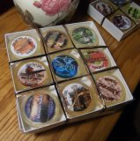 9 Mug sized shaving soaps in a gift box