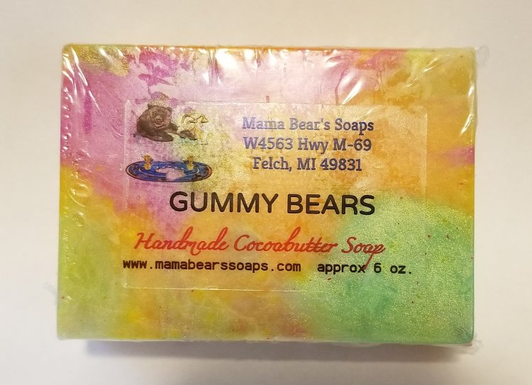 Gummy Bears Cocoa Butter Soap - Click Image to Close