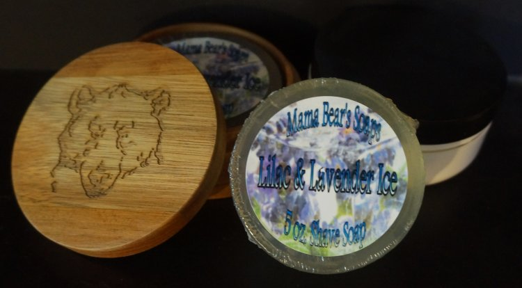 Lilac & Lavender Ice 5 oz. Mentholated Shave Soap - Click Image to Close