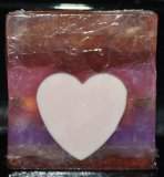 Sandalwood Rose Soap with a Cocobutter Heart