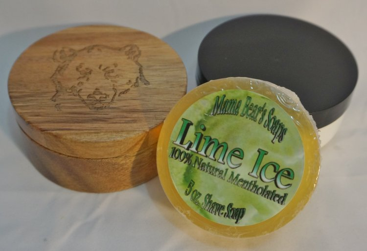 Lime Ice Glycerin Shave Soap 100% Natural - Click Image to Close