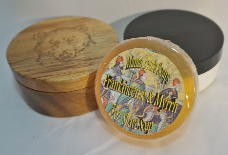 Frankincense and Myrrh Glycerin Shave Soap - Click Image to Close