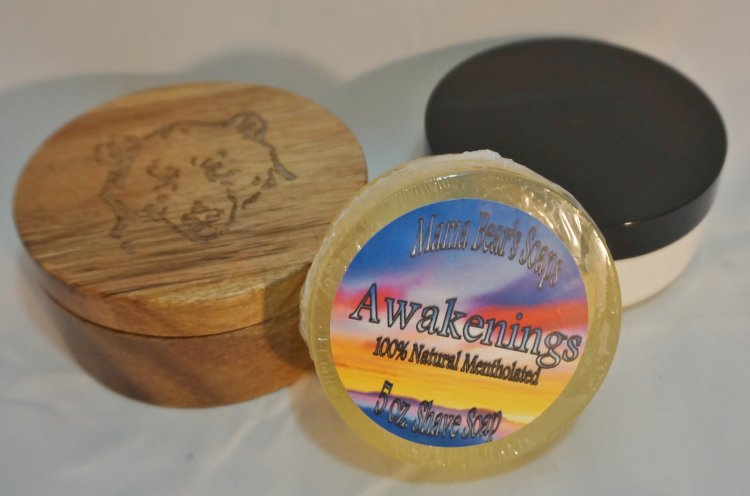 Awakenings Glycerin Shave Soap 100% Natural - Click Image to Close