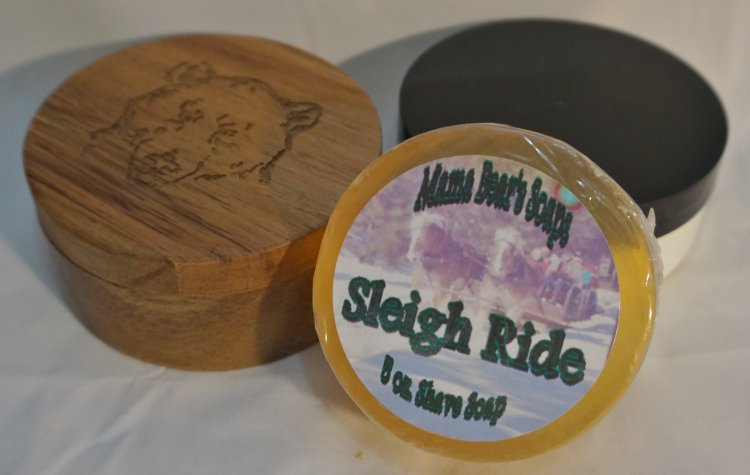 Sleigh Ride Glycerin Shave Soap - Click Image to Close