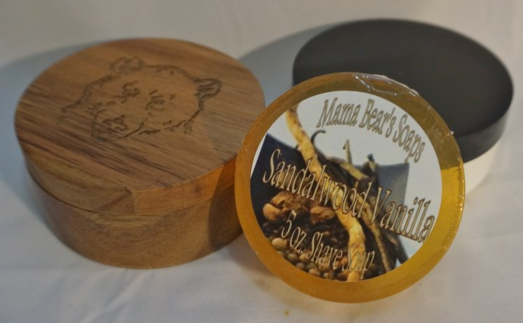 Sandalwood Vanilla Glycerin Shave Soap - Click Image to Close