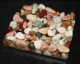 Signature Soap Dish, Multi Colored River Pebbles