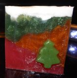 Christmas Tree Soap with Christmas Tree Embed