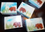 bear embed soap with gingerbread spice fragrance