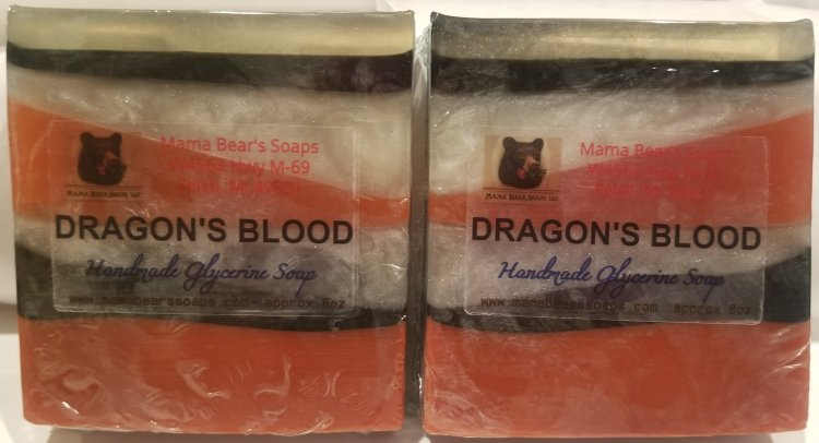 Dragon's Blood Geometric Glycerin Bath Soap - Click Image to Close