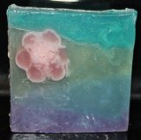 Tahitian Flowers Custom Clear Glycerin Soap