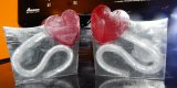 Silver Lines with Red Hearts Glycerin Soap