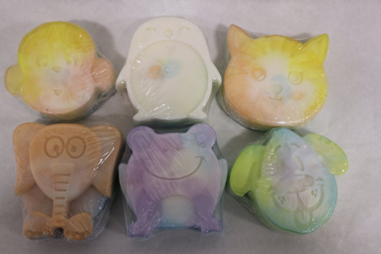 6 Animal Variety Shaped Soaps - Click Image to Close