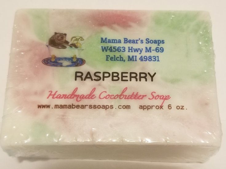 Raspberry Cocoa Butter Soap - Click Image to Close