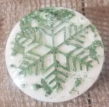 Snowflake Cocoa Butter Soap with Christmas Tree Scent (pine)