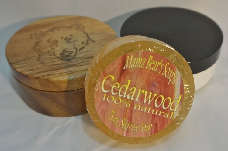 Cedarwood 100% Natural Shave Soap - Click Image to Close